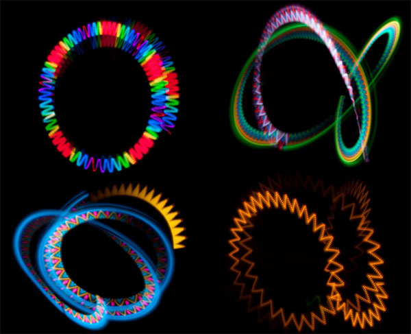 effets visuels future POI led micro