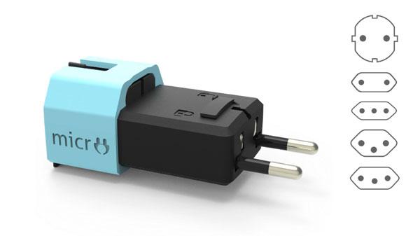 face micro adaptateur avec 5 dessins de prises