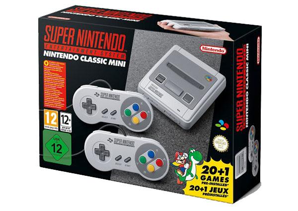 emballage de la super Nes mini : 20+1 jeux