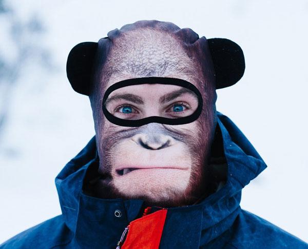 cagoule singe yeux apparents