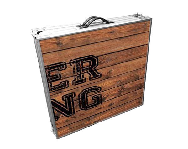 beer pong fermé en mode valise