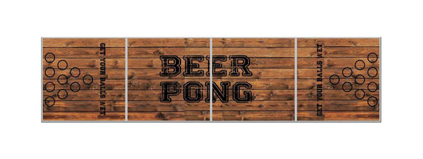 beer pong vue du haut