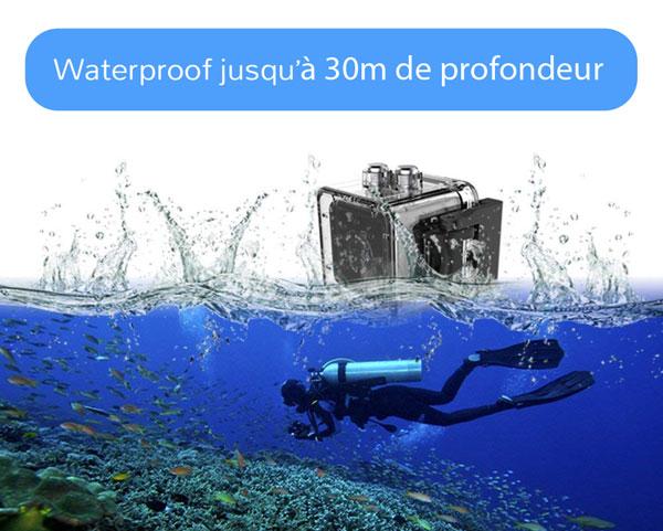 mini caméra HD waterproof dans l'eau