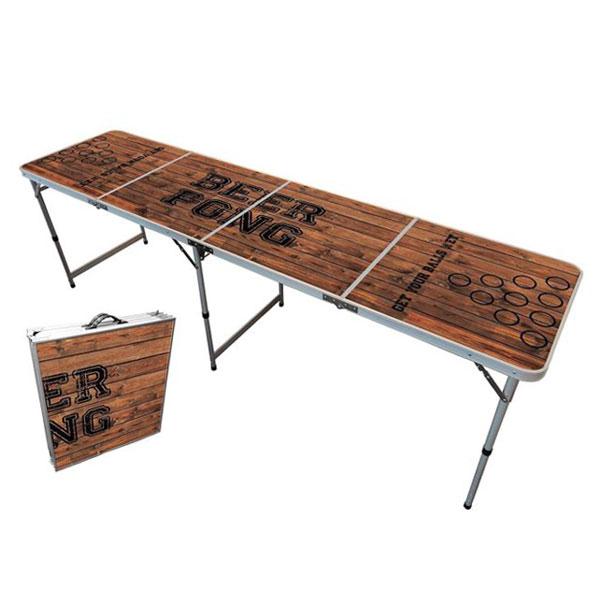 table de beer pong ouverte et fermée à côté
